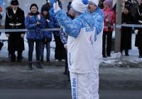 Олимпийский огонь в Омске.