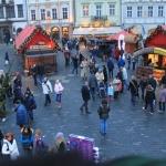 Старомесская площадь. Рождественские гуляния. Вид с Рождественской горки.