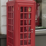 Английская телефонная будка.