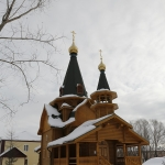 Деревянная церковь. Село Пушкино.