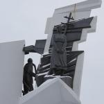 Памятник труженикам тыла. Расположен на пресечении улиц Богдана Хмельницкого и Лизы Чайкиной. Снимок 2.