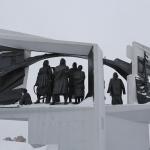 Памятник труженикам тыла. Расположен на пресечении улиц Богдана Хмельницкого и Лизы Чайкиной. Снимок 3