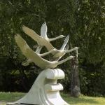 """Скульптурная композиция """"Лебеди"""". Старозагородная роща."""